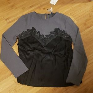 Endless Rose top with lace detail
